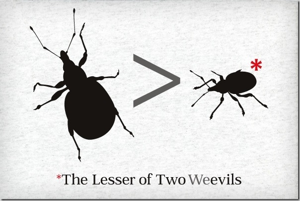Lesser-of-Two-Weevils t-shirt