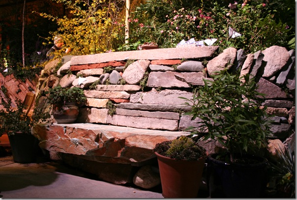 neat stone bench idea