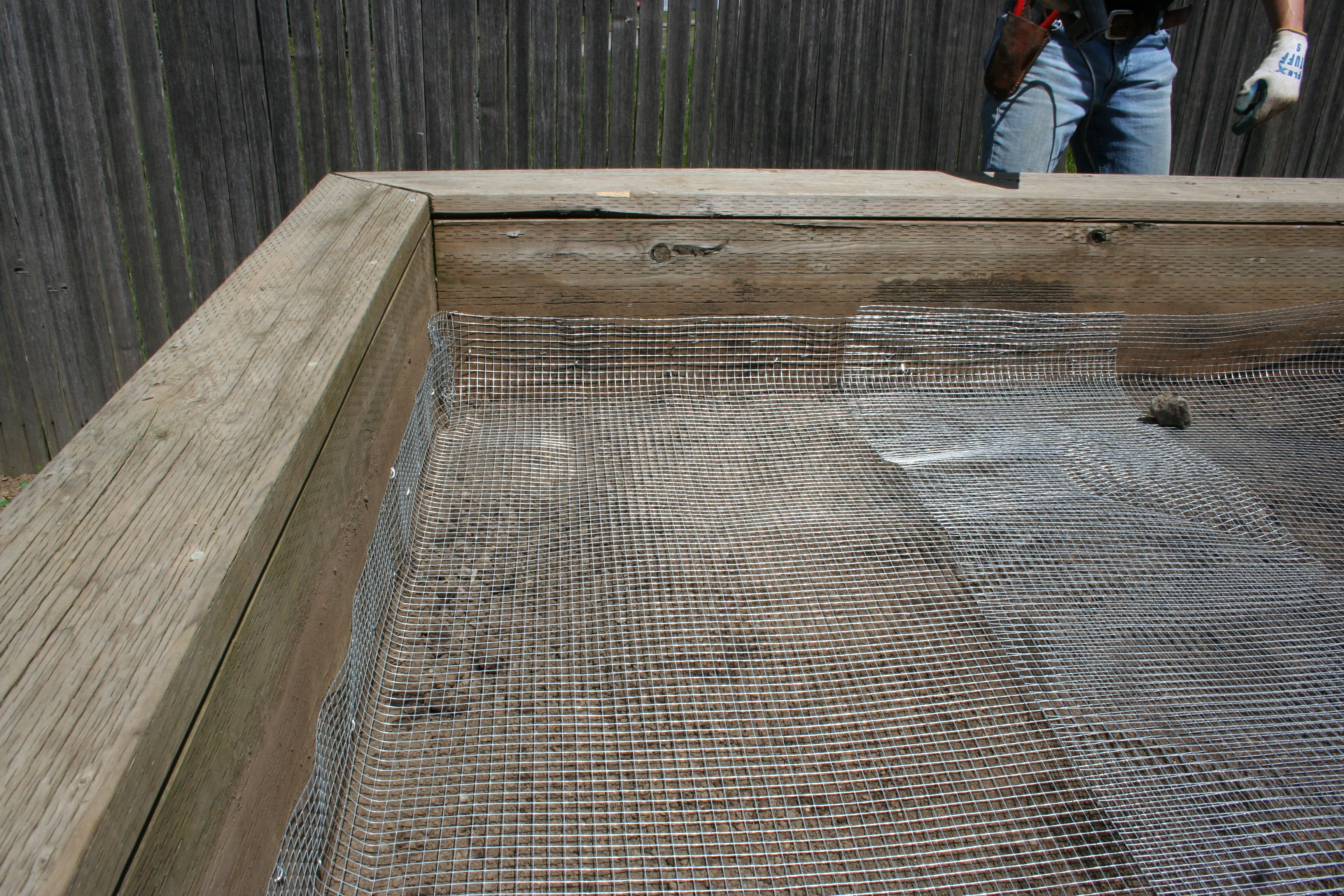 How To Gopher Proof An Existing Raised Bed Photo Tutorial North Coast Gardening