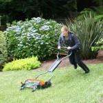 The Fiskars StaySharp Max Reel Mower