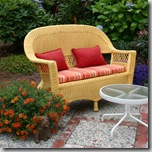 tangerine tango colored cushions for outdoor decor